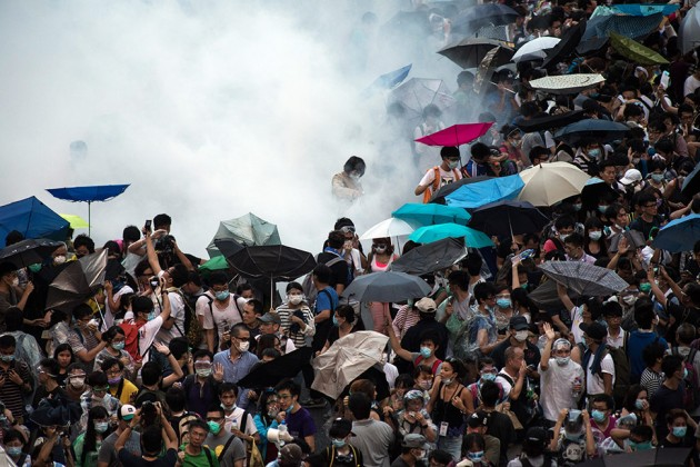 umbrella hong kong